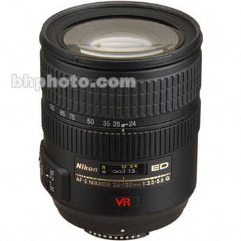 Nikon Zoom Wide Angle-Telephoto AF Zoom Nikkor 24-120mm f/3.5-5.6G ED-IF AF-S VR Autofocus Lens