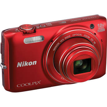 Nikon COOLPIX S6800 Digital Camera (Red)