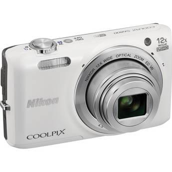 Nikon COOLPIX S6800 Digital Camera (White)
