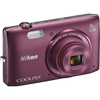 Nikon COOLPIX S5300 Digital Camera (Plum)