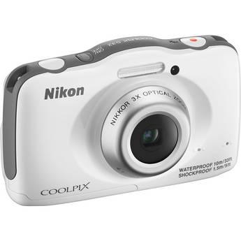Nikon COOLPIX S32 Digital Camera (White)