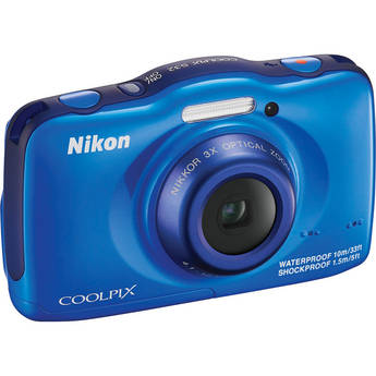 Nikon COOLPIX S32 Digital Camera (Blue)
