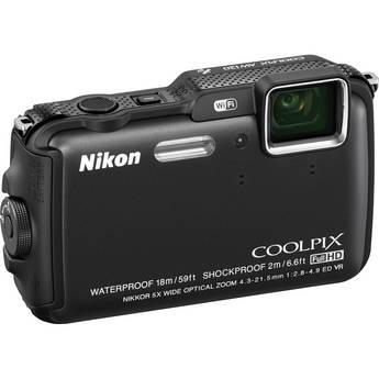 Nikon COOLPIX AW120 Waterproof Digital Camera (Black)