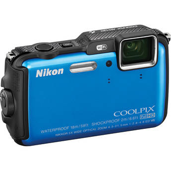 Nikon COOLPIX AW120 Waterproof Digital Camera (Blue)