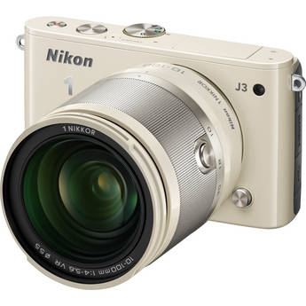 Nikon 1 J3 Mirrorless Digital Camera with 10-100mm Lens (Beige)