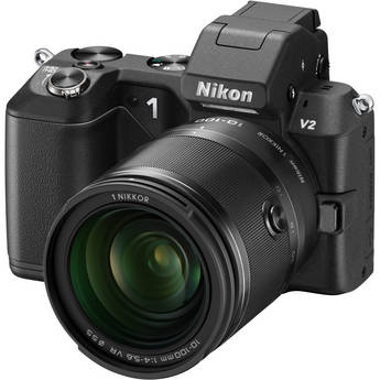 Nikon 1 V2 Mirrorless Digital Camera with 1 NIKKOR 10-100mm Lens (Black)