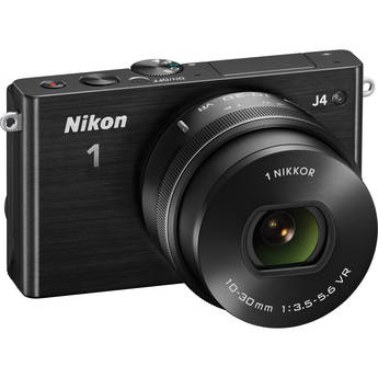Nikon 1 J4 Mirrorless Digital Camera with 10-30mm Lens (Black)