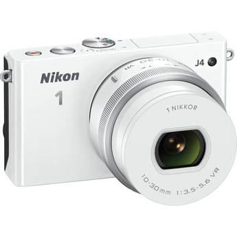 Nikon 1 J4 Mirrorless Digital Camera with 10-30mm Lens (White)