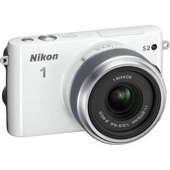 Nikon 1 S2 Mirrorless Digital Camera with 11-27.5mm Lens (White)
