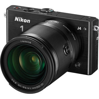 Nikon 1 J4 Mirrorless Digital Camera with 10-100mm Lens (Black)