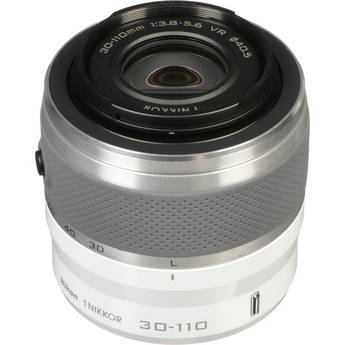 Nikon 1 Nikkor VR 30-110mm f/3.8-5.6 Lens (White) for CX Format