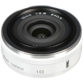 Nikon 1 Nikkor 10mm f/2.8 Lens (White) for CX Format