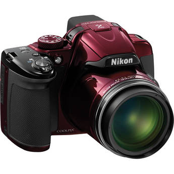 Nikon COOLPIX P520 Digital Camera (Red)