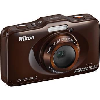 Nikon COOLPIX S31 Digital Camera (Brown)