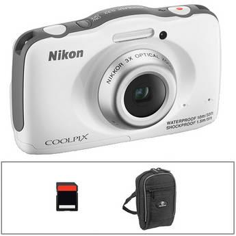 Nikon COOLPIX S32 Digital Camera Basic Kit (White)