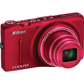Nikon COOLPIX S9500 Digital Camera (Red)