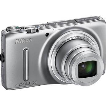 Nikon COOLPIX S9500 Digital Camera (Silver)