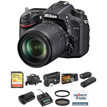 Nikon D7100 DSLR Camera Deluxe Accessory Kit with 18-105mm f/3.5-5.6 Lens