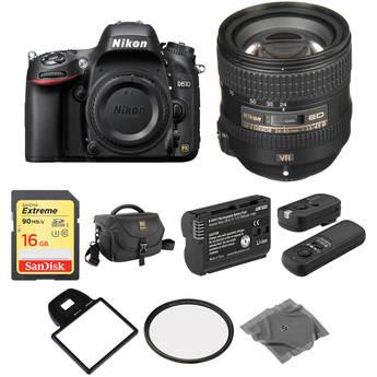 Nikon D610 DSLR Camera with 24-85mm Lens Basic Kit