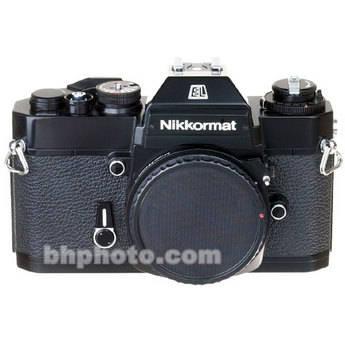 used nikon nikkormat el 35mm slr manual focus camera body b&h