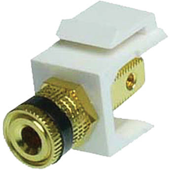 NTW Speaker Post Black Snap-in Keystone Jack (White)