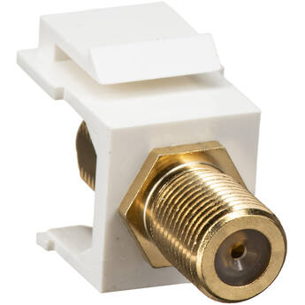 NTW F-Type Gold-Plated Coupler Keystone White
