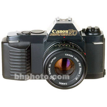 used canon t50 35mm slr manual focus camera body with 50mm b h canon cameras manual focus Canon Film Camera