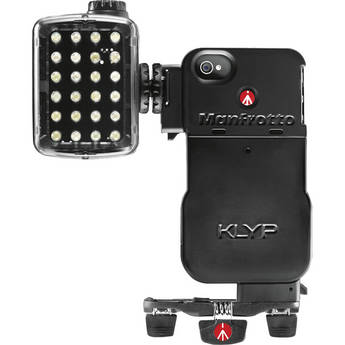Manfrotto KLYP Case for iPhone 4/4S + ML240 LED Light + POCKET Tripod
