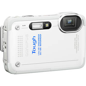 Olympus TG-630 iHS Digital Camera (White)