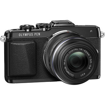 Olympus PEN E-PL7 Mirrorless Micro Four Thirds Digital Camera with 14-42mm f/3.5-5.6 II R Lens (Black)