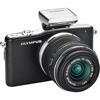 Olympus E-PM1 Mirrorless Micro Four Thirds Digital Camera with 14-42mm II Lens (Black)