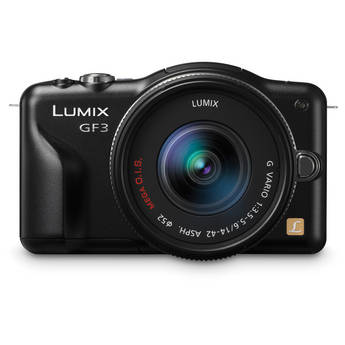 Panasonic Lumix DMC-GF3 Digital Camera with 14-42mm Lens Kit (Black)