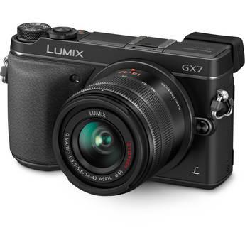 Panasonic Lumix DMC-GX7 Mirrorless Micro Four Thirds Digital Camera with 14-42mm f/3.5-5.6 Lens (Black)