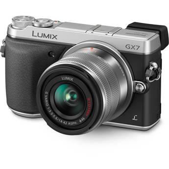 Panasonic Lumix DMC-GX7 Mirrorless Micro Four Thirds Digital Camera with 14-42mm f/3.5-5.6 Lens (Silver)