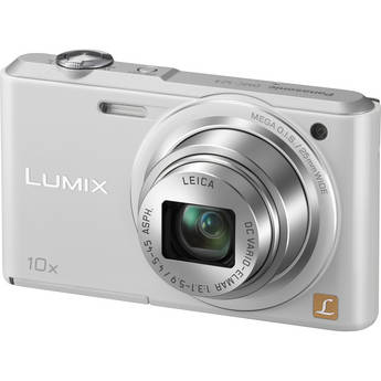 Panasonic Lumix DMC-SZ3 Digital Camera (White)