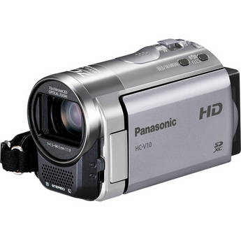 Panasonic HC-V10 Entry HD Camcorder (PAL, Red)