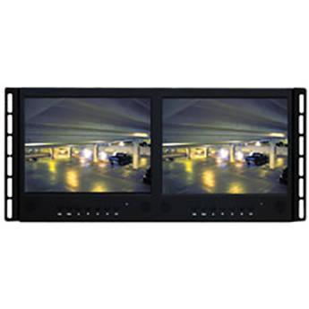 "Panasonic PLCD9C 9.7"" Premium LED CCTV Monitor with RMK-08 Tiltable Rack Mount Bracket"
