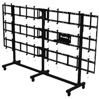 """Peerless-AV Portable Video Wall Cart for 46 to 55"""" Displays (4x3 Configuration)"""