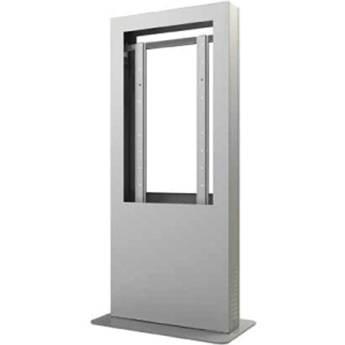 """Peerless-AV KIP542B-S Portrait Back-to-Back Kiosk Enclosure for 42"""" Display (Silver)"""