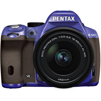 Pentax K-50 Digital SLR Camera with 18-55mm f/3.5-5.6 Lens (Violet/Brown)