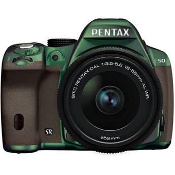 Pentax K-50 Digital SLR Camera with 18-55mm f/3.5-5.6 Lens (Metal Green/Brown)