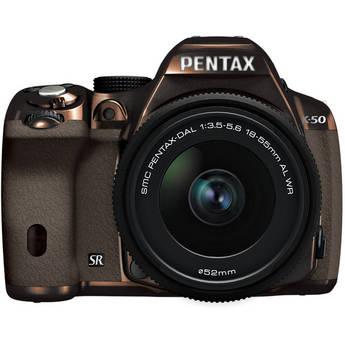 Pentax K-50 Digital SLR Camera with 18-55mm f/3.5-5.6 Lens (Metal Brown/Brown)