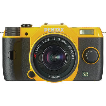 Pentax Q7 Compact Mirrorless Camera with 5-15mm f/2.8-4.5 Zoom Lens (Yellow)