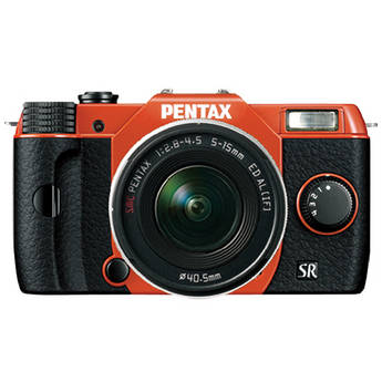 Pentax Q10 Compact Mirrorless Camera with 5-15mm Lens (Orange / Black)