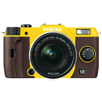 Pentax Q10 Compact Mirrorless Camera with 5-15mm Lens (Yellow / Brown)