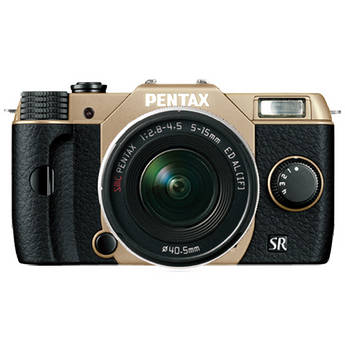 Pentax Q10 Compact Mirrorless Camera with 5-15mm Lens (Sand Beige / Black)