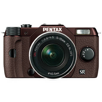 Pentax Q10 Compact Mirrorless Camera with 5-15mm Lens (Metal Brown / Brown)