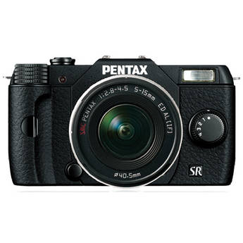 Pentax Q10 Compact Mirrorless Camera with 5-15mm Lens (Black)