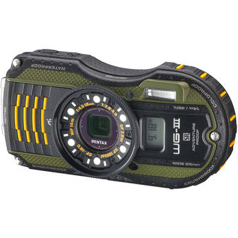 Pentax WG-3 Digital Camera with GPS Kit (Green)