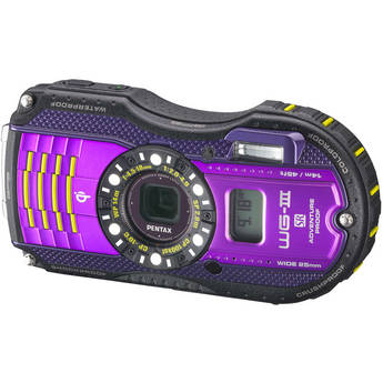 Pentax WG-3 Digital Camera with GPS Kit (Purple)